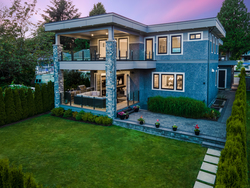 31-drone-exterior-rear at 13698 Blackburn Avenue, White Rock, South Surrey White Rock