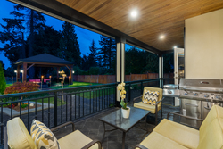 13-terrace-to-gazebo at 13320 57 Avenue, Panorama Ridge, Surrey