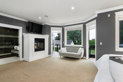 19-master-bedroom-fireplace at 13320 57 Avenue, Panorama Ridge, Surrey