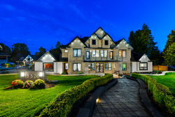 3-twilight-front at 13320 57 Avenue, Panorama Ridge, Surrey
