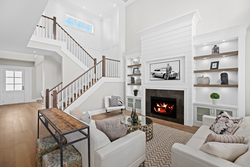 4-great-room-to-stairs at 13859 Blackburn Avenue, White Rock, South Surrey White Rock