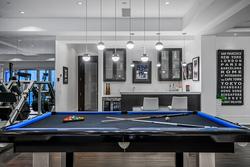 31-pool-table-with-bocci-lighting at 13283 56 Avenue, Panorama Ridge, Surrey