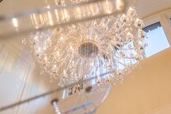 9-chandelier-close-through-piano at 13283 56 Avenue, Panorama Ridge, Surrey