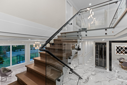 20-stairs-with-glass at 2928 165b Street, Grandview Surrey, South Surrey White Rock