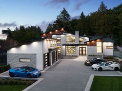 1-exterior-drone at 14358 Greencrest Drive, Elgin Chantrell, South Surrey White Rock