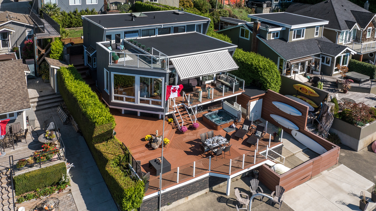 Drone View 2 at 924 Tsawwassen Beach Road, Tsawwassen