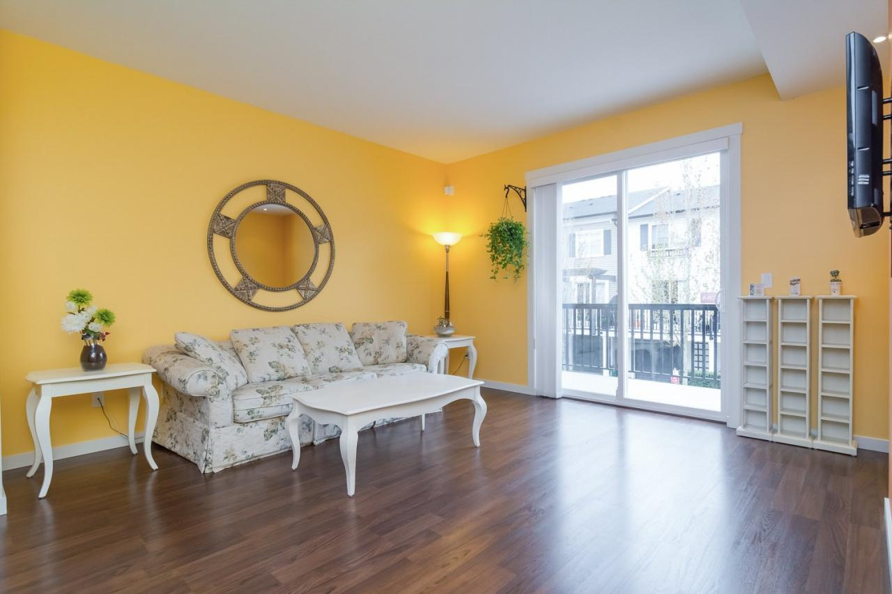 Bright Living Room at 19 - 7238 189 Street, Clayton, Cloverdale
