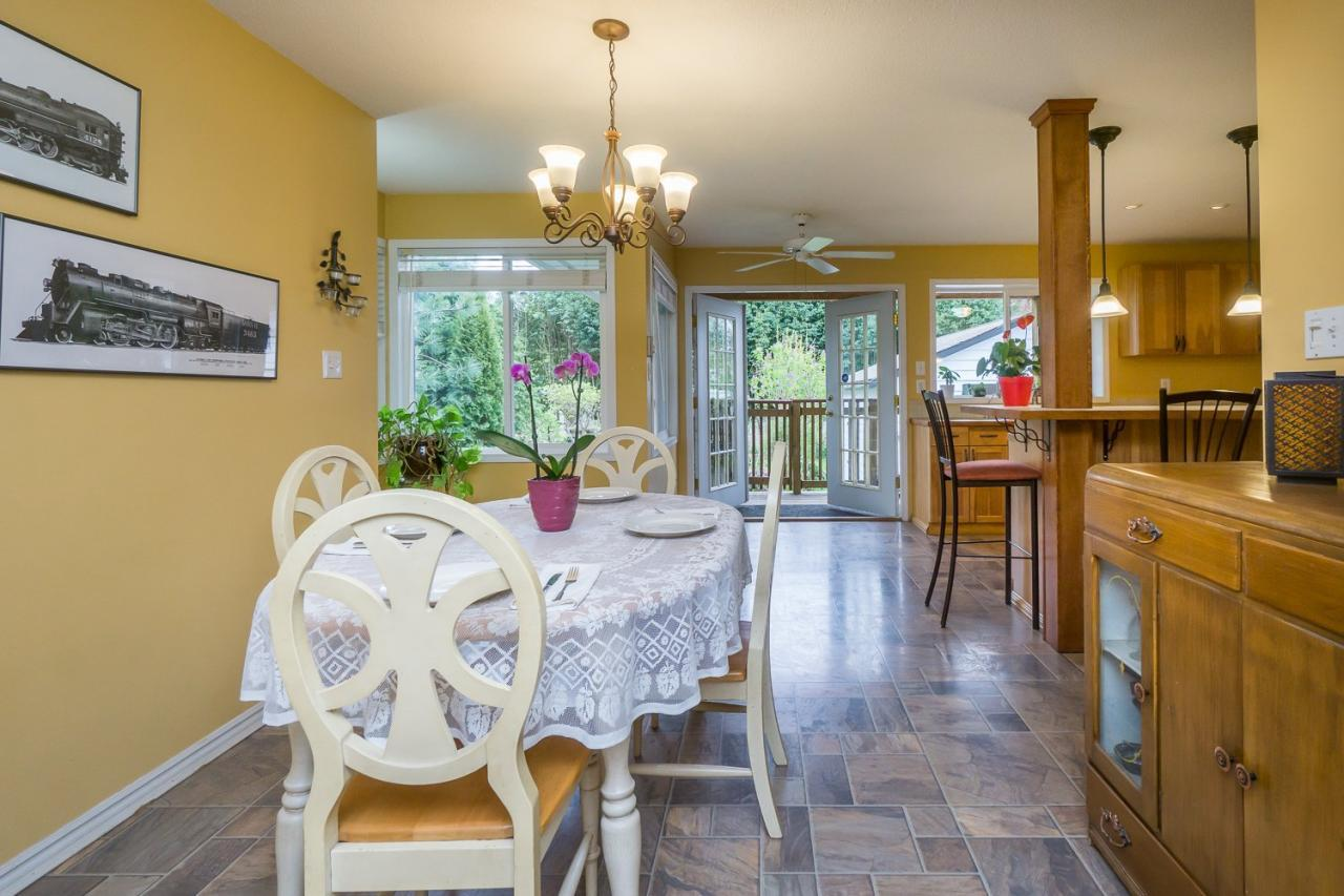 Dining Area view at 8821 Trattle Street, Fort Langley, Langley