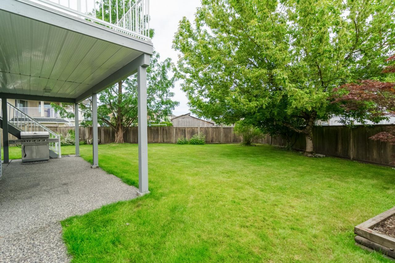 Backyard at 6375 187a Street, Cloverdale
