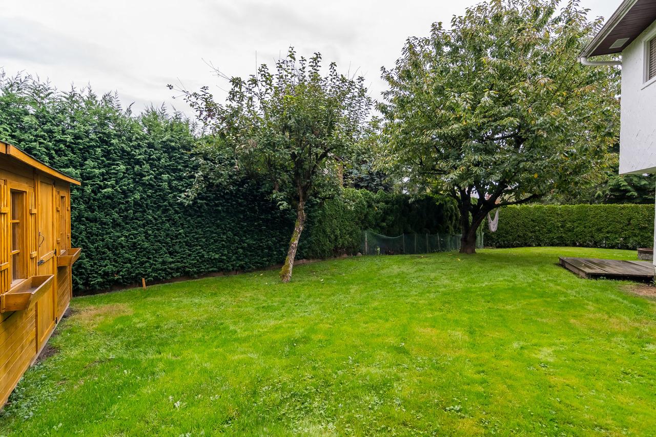 Back yard 4 at 6358 193b Street, Surrey