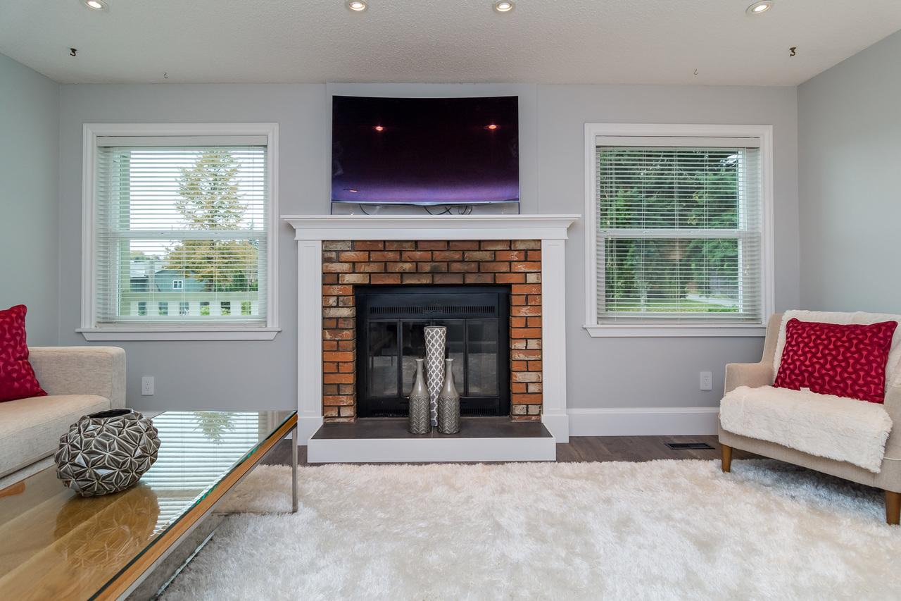 Fireplace at 6358 193b Street, Surrey