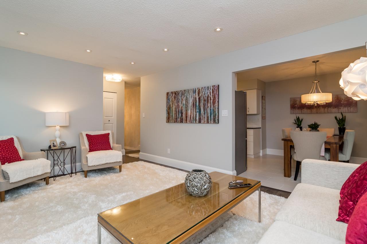 Living room at 6358 193b Street, Surrey