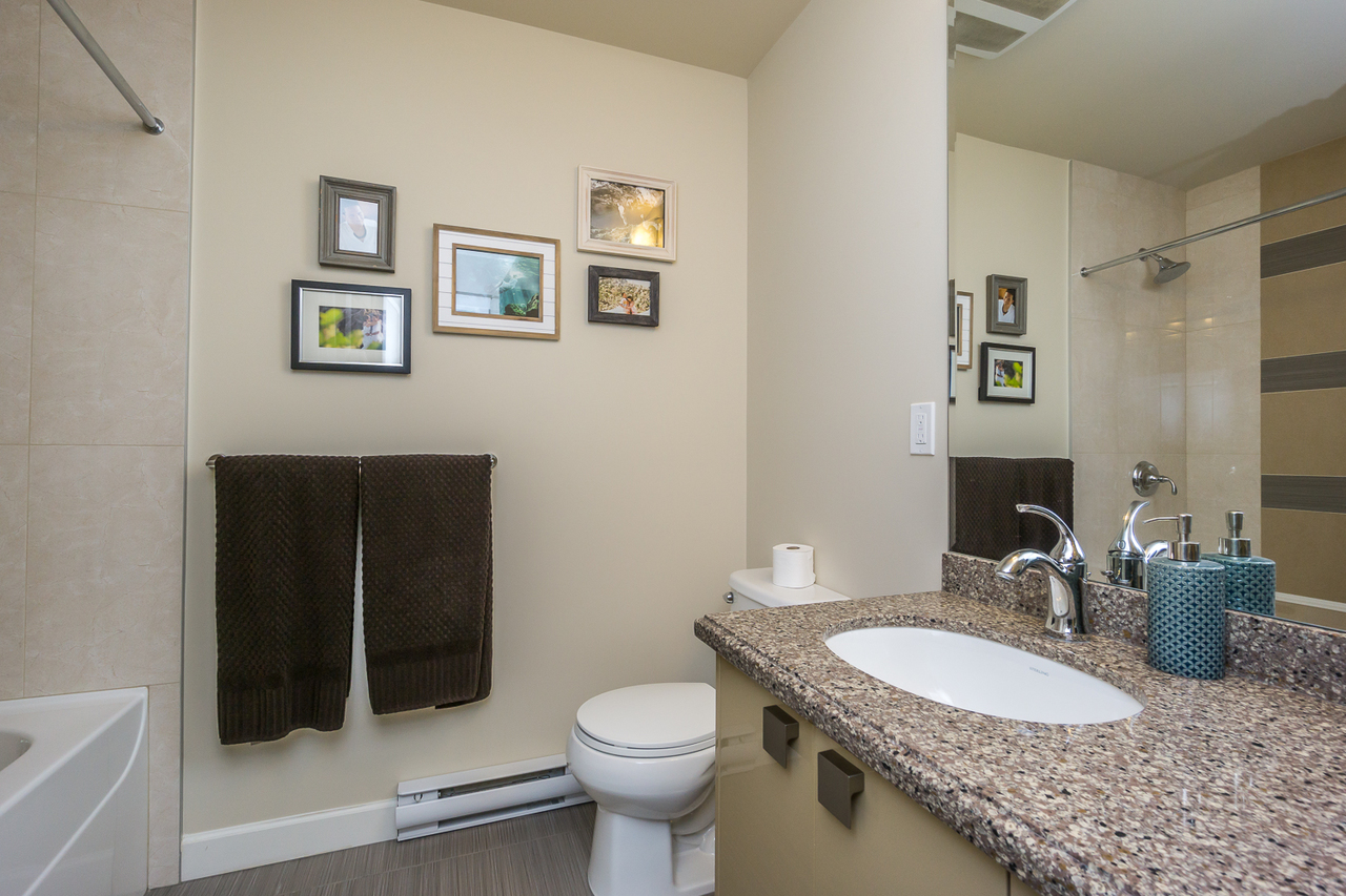 Main Bath -Listed by Solon REM, Top Langley & Fraser Valley Realtor  at 425 - 12039 64, West Newton, Surrey