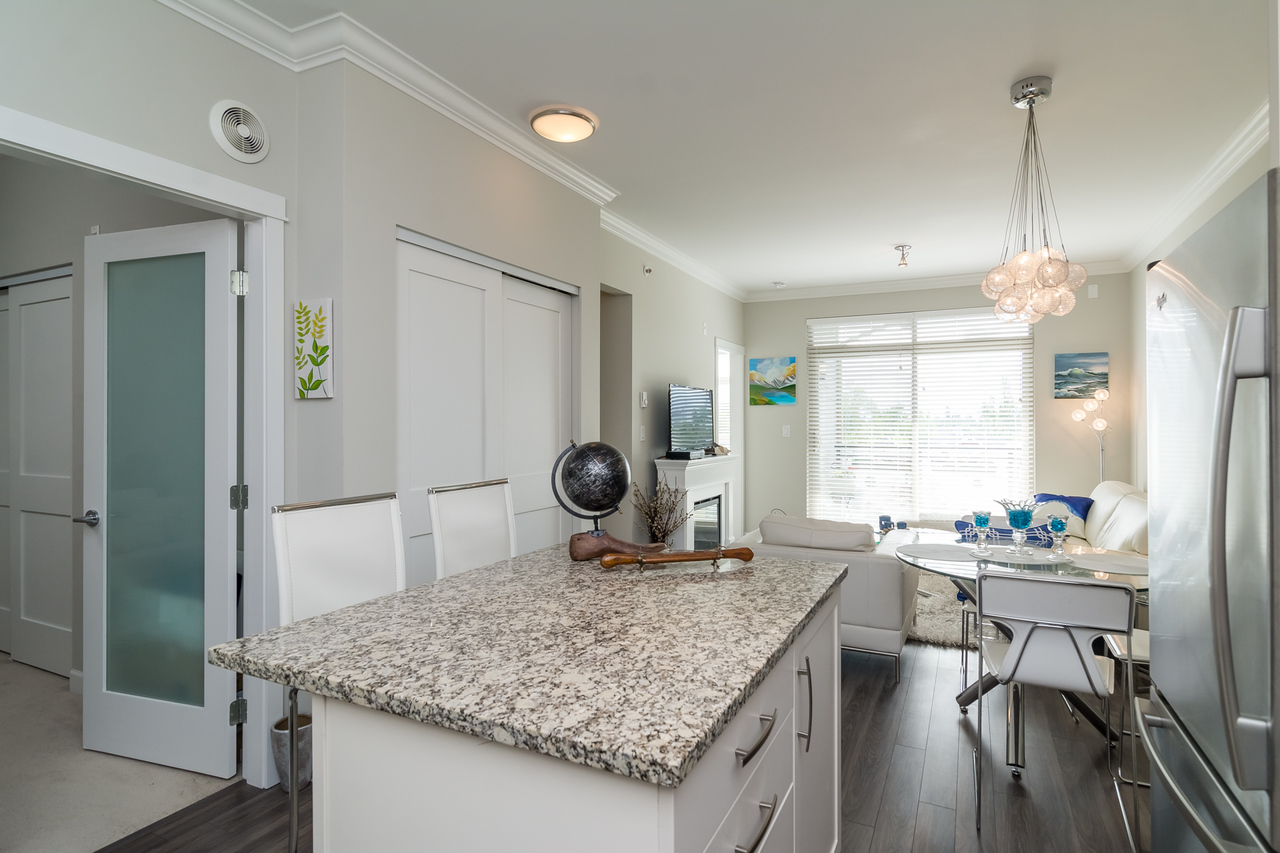 Kitchen Island -Listed by Solon REM, Top Langley & Fraser Valley Realtor  at 413 - 20861 83rd Avenue, Langley
