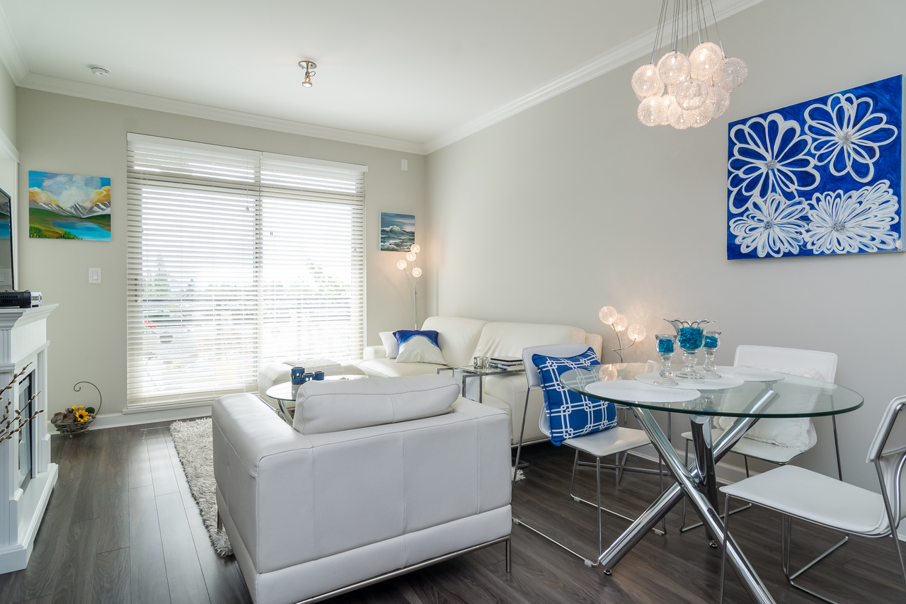 Dining Area -Listed by Solon REM, Top Langley & Fraser Valley Realtor  at 413 - 20861 83rd Avenue, Langley