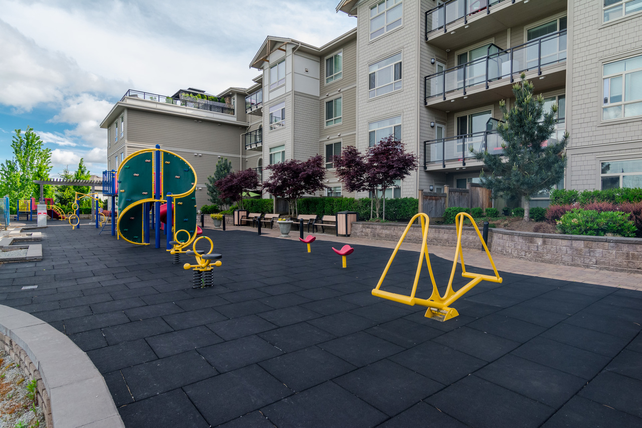 Playground on Site -Listed by Solon REM, Top Langley & Fraser Valley Realtor  at 413 - 20861 83rd Avenue, Langley