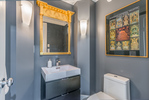 Powder room at 2651 Mathers Avenue, Dundarave, West Vancouver