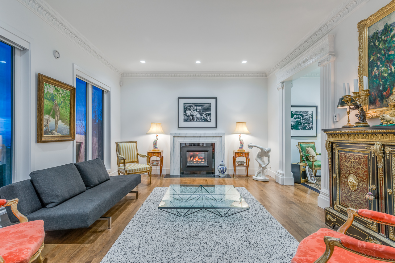 Living room at 2651 Mathers Avenue, Dundarave, West Vancouver