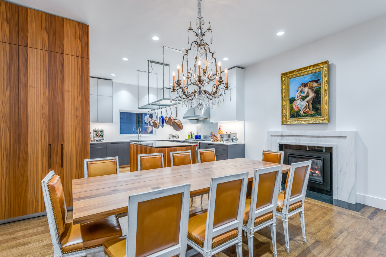 Dining flowing to kitchen at 2651 Mathers Avenue, Dundarave, West Vancouver