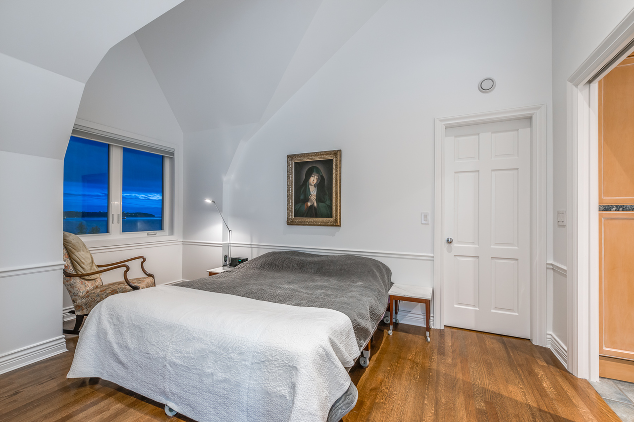 Bedroom goals at 2651 Mathers Avenue, Dundarave, West Vancouver
