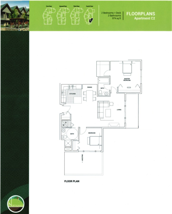 floorplan at 405 - 3294 Mt Seymour Parkway, Northlands, North Vancouver