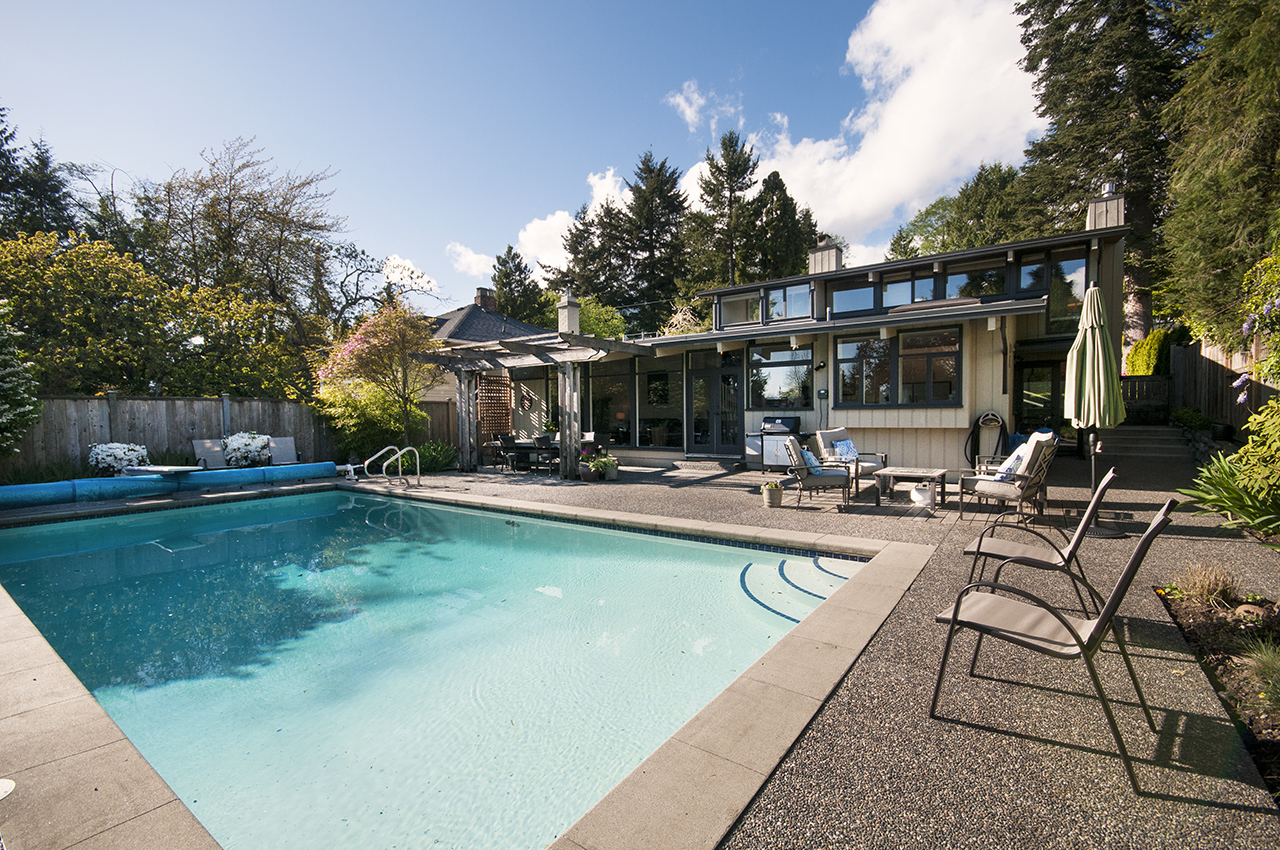 Pool at 1580 Kings, West Vancouver