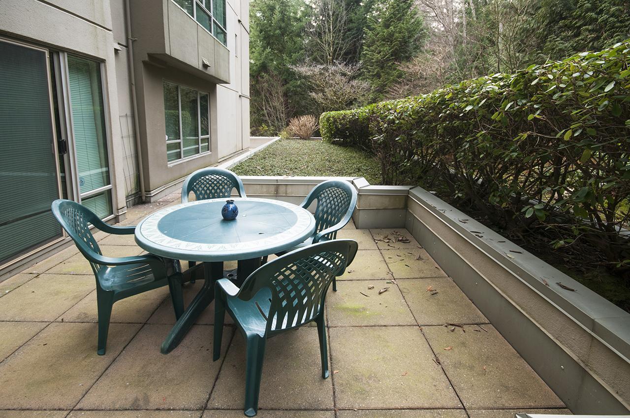 back deck at 101 - 3105 Deer Ridge Drive, West Vancouver