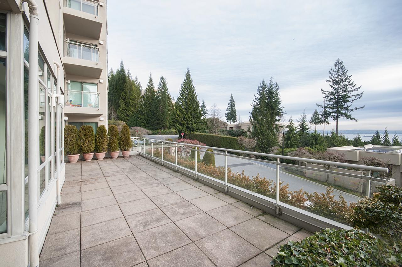 Huge wrap-around deck at 101 - 3105 Deer Ridge Drive, West Vancouver
