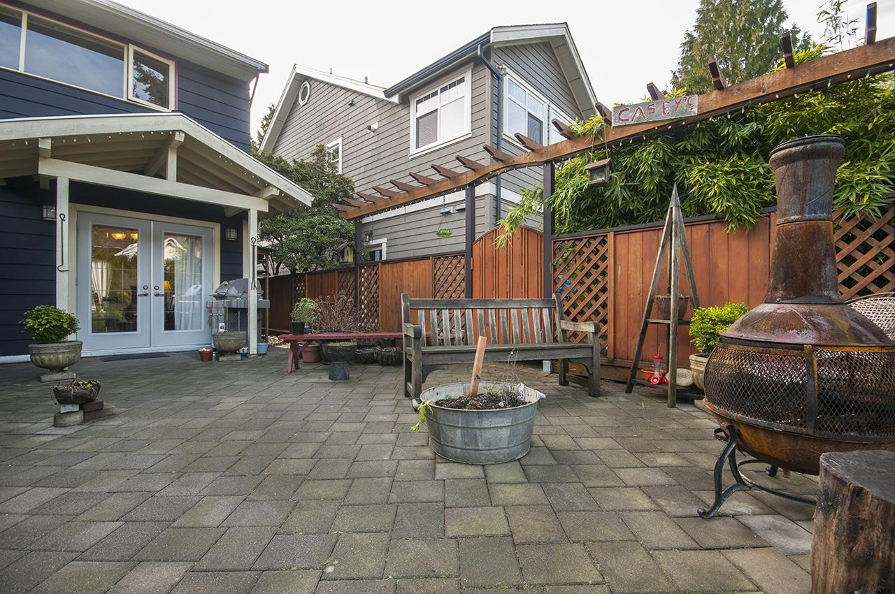 Back Patio at 312 E 21st, Central Lonsdale, North Vancouver