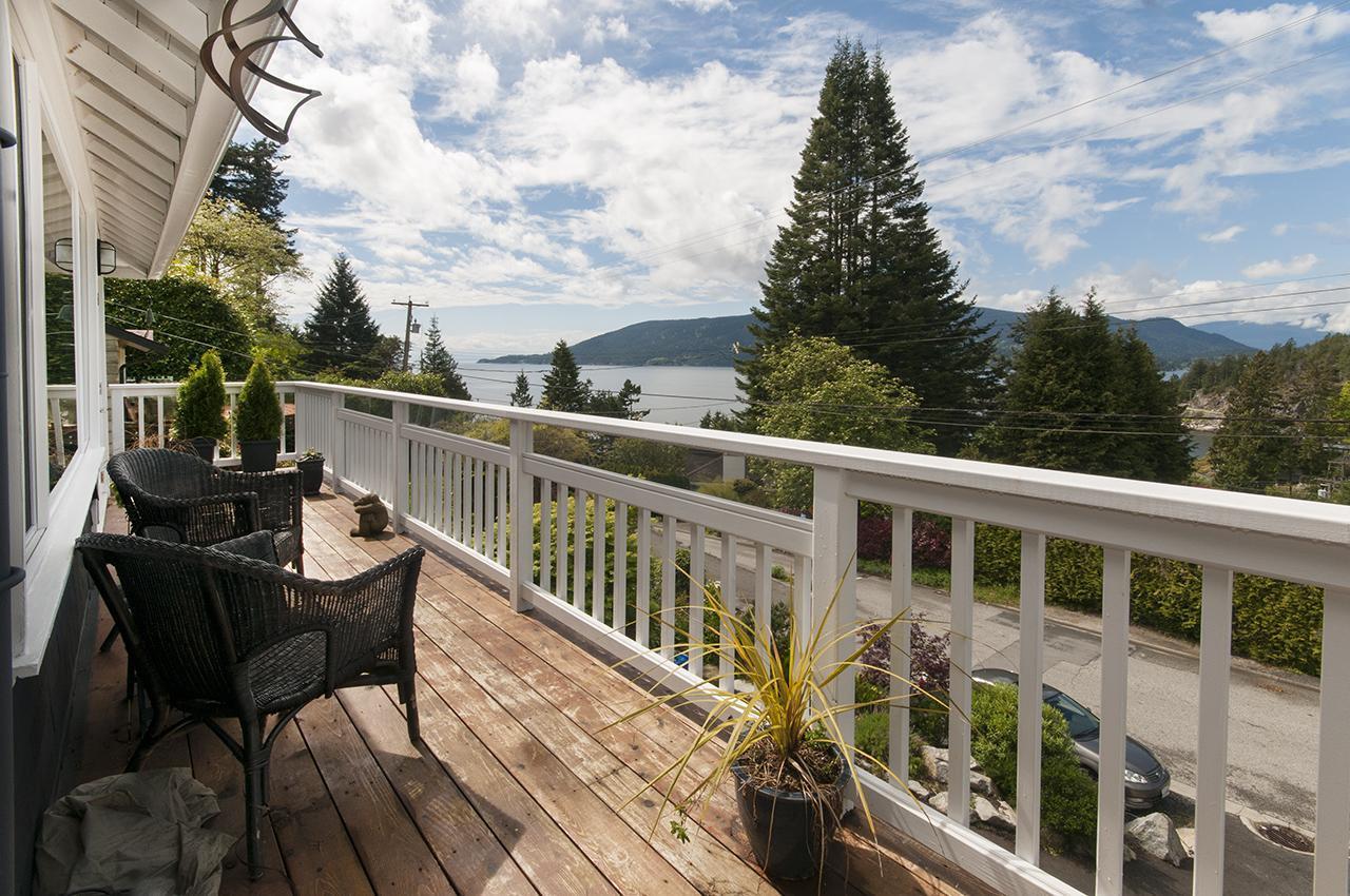 Front Deck at 6252 Wellington Avenue, Horseshoe Bay WV, West Vancouver