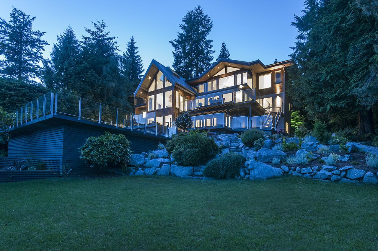 Back of Home from Lot at 3048 Spencer Court, Altamont, West Vancouver