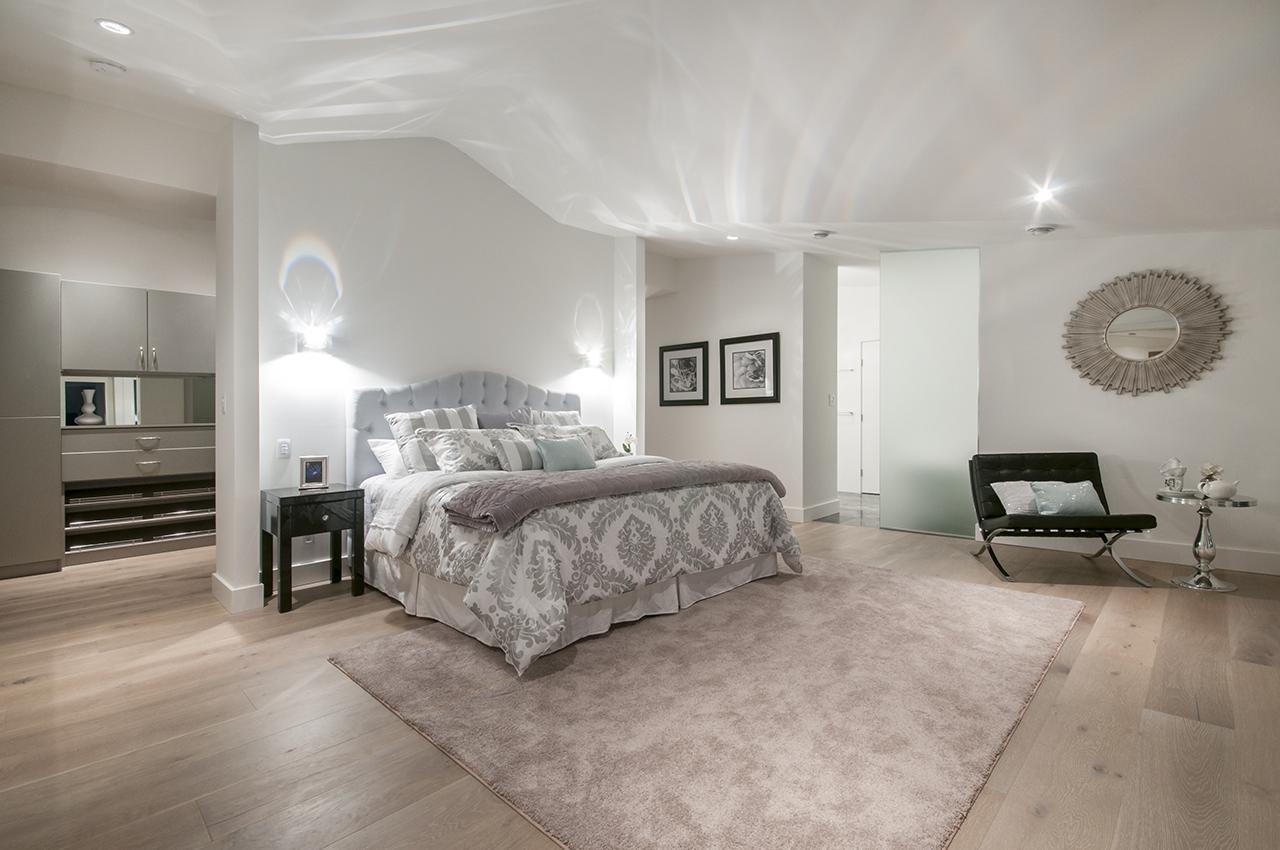 Master Bedroom with Swarovski Lights at 3048 Spencer Court, Altamont, West Vancouver