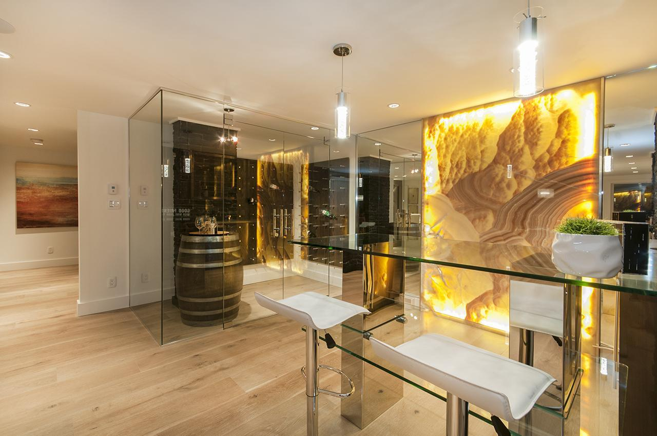 Bar and Wine Room at 3048 Spencer Court, Altamont, West Vancouver