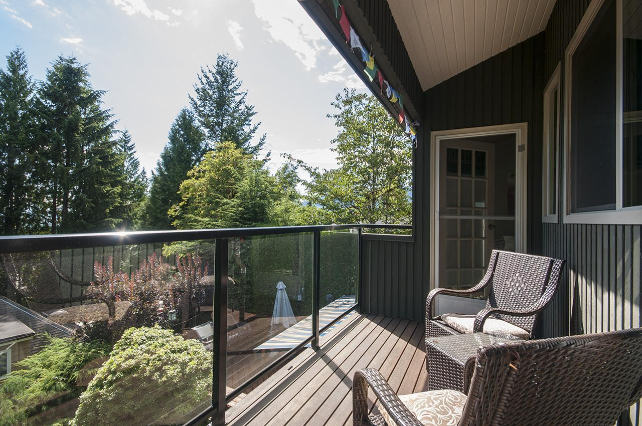 Deck of Master Bedroom/Bedroom at 555 Palisade Drive, Canyon Heights NV, North Vancouver