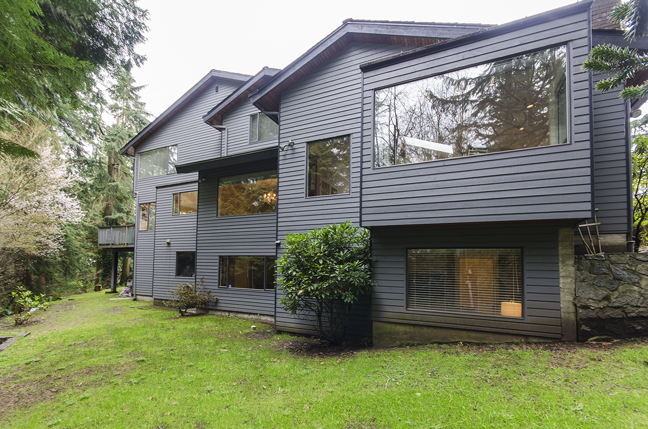 Back of House at 1610 Palmerston Avenue, Ambleside, West Vancouver