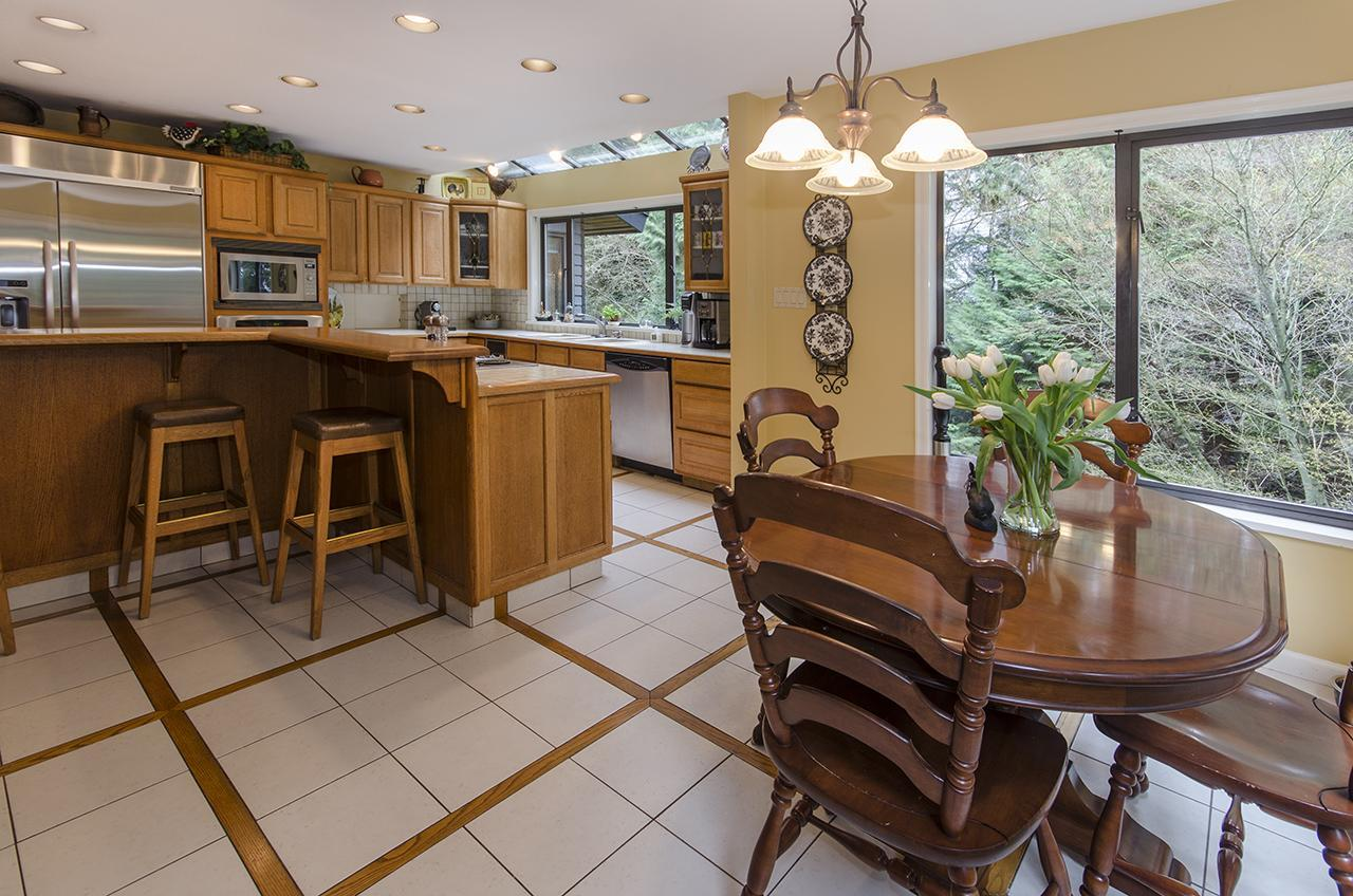 Kitchen Eating Area at 1610 Palmerston Avenue, Ambleside, West Vancouver