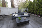 Private Patio off Living Area at 2030 Marine Drive, Ambleside, West Vancouver