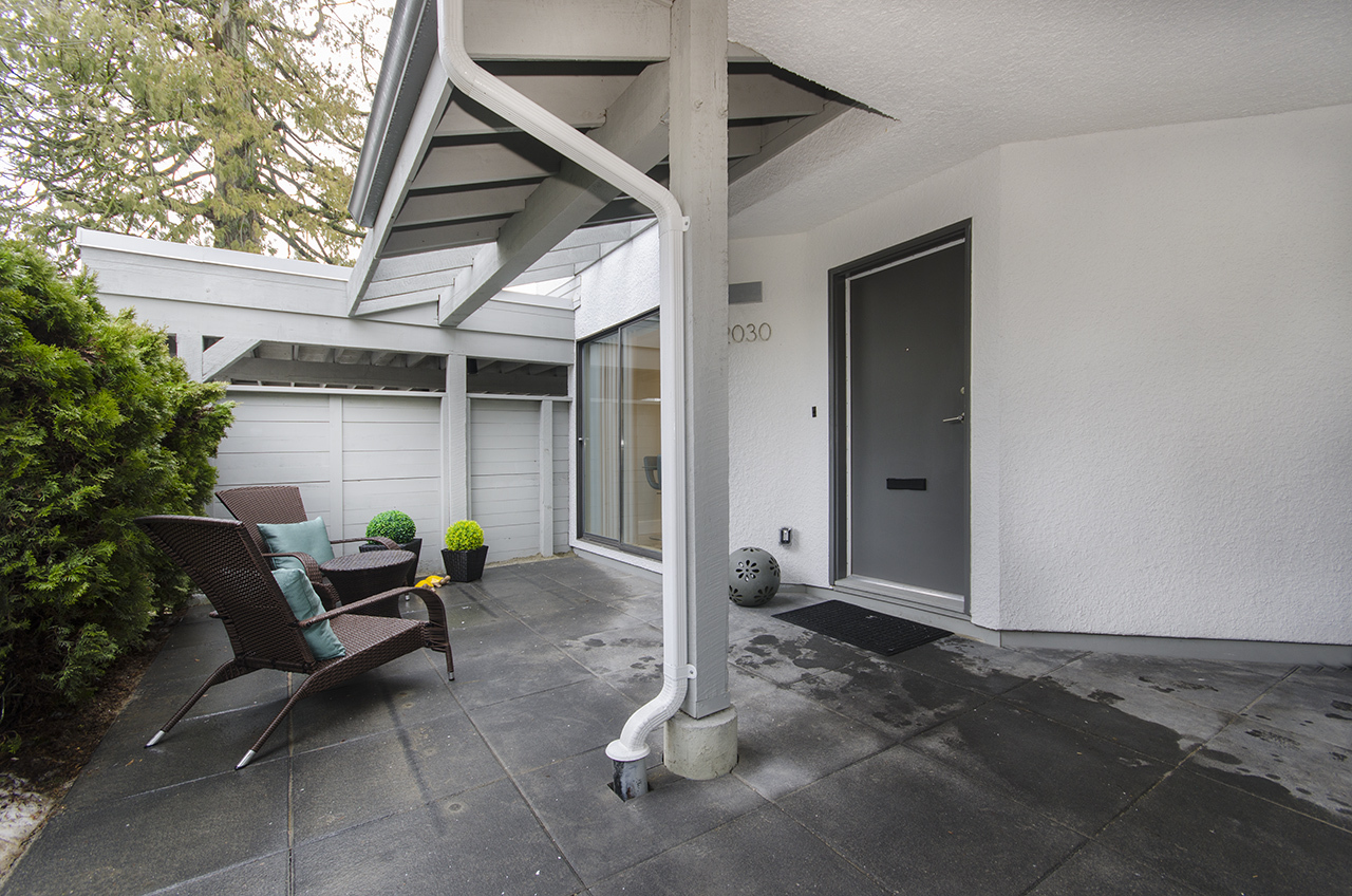 Private Front Patio/Entrance at 2030 Marine Drive, Ambleside, West Vancouver