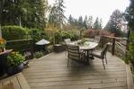 deck at 555 Palisade Drive, Canyon Heights NV, North Vancouver