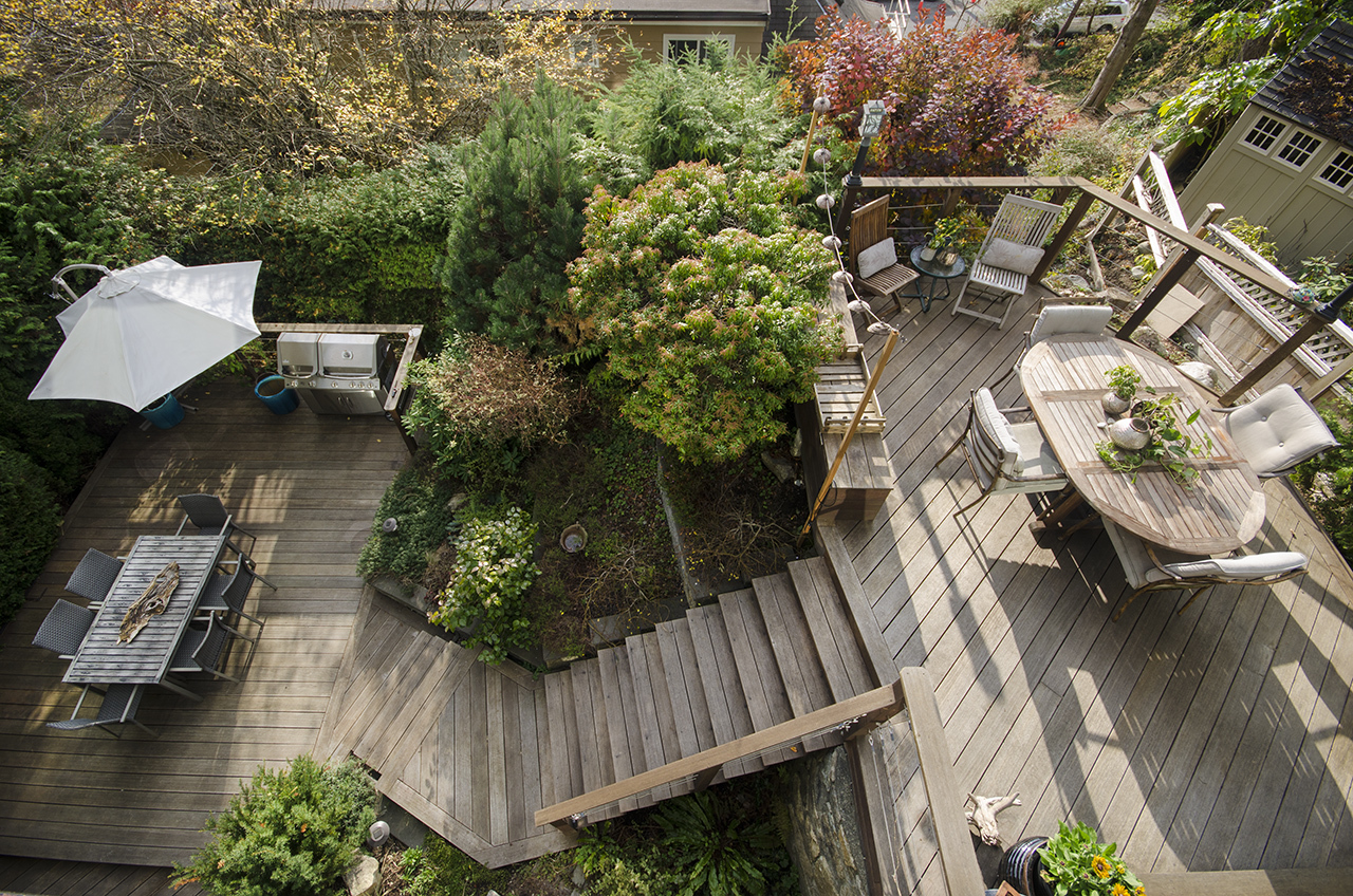 decks-from-above at 555 Palisade Drive, Canyon Heights NV, North Vancouver