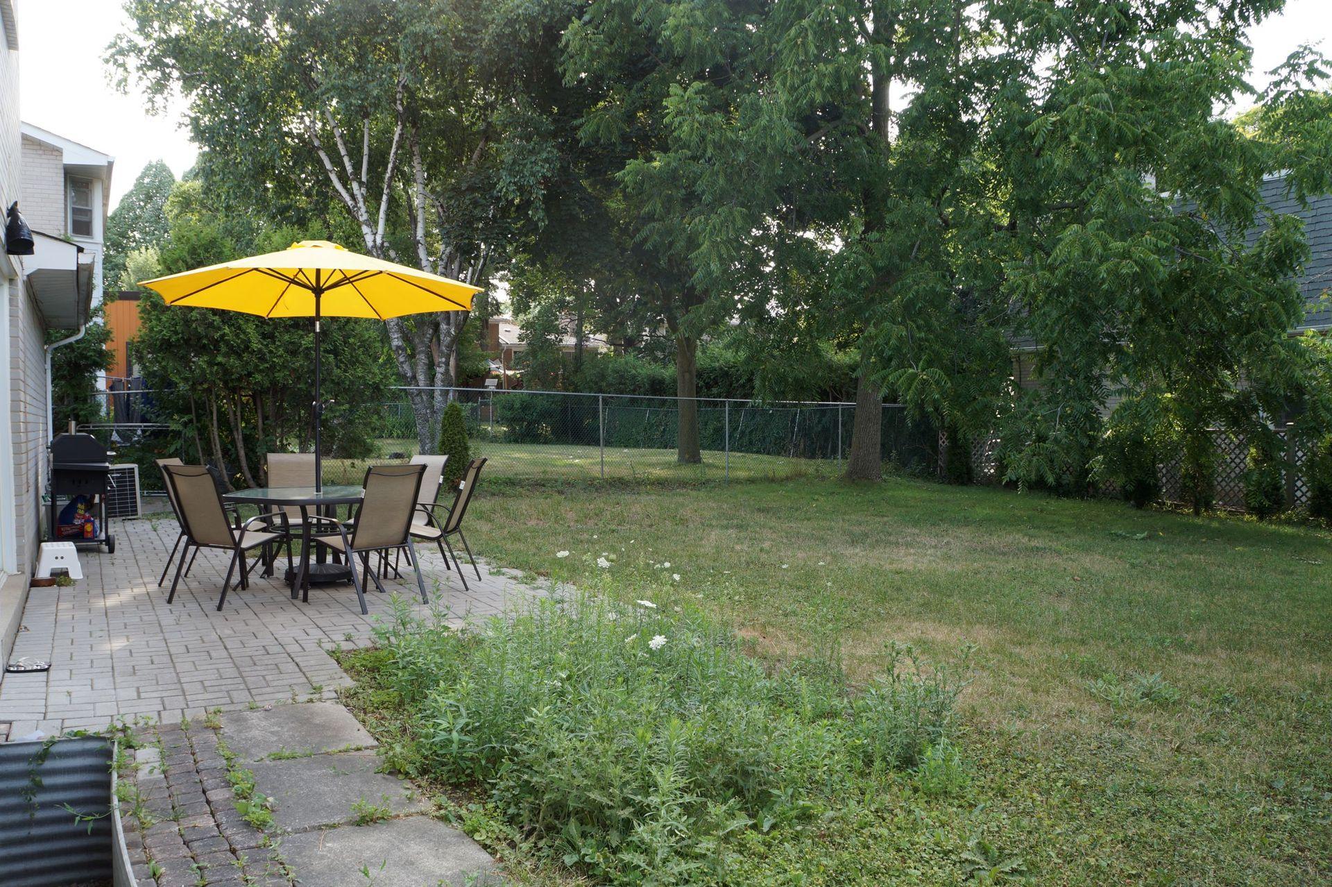 backyard at 1 Knollview Crescent, Bayview Village, Toronto
