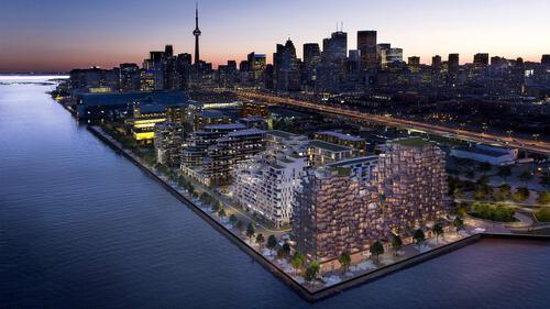 09_comunity-aerial at 155 Merchants' Wharf, Waterfront Communities C8, Toronto