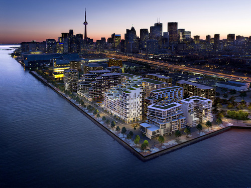 aerial at 118 Merchants' Wharf, Waterfront Communities C8, Toronto