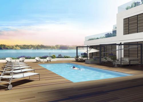 amenities-pool at 118 Merchants' Wharf, Waterfront Communities C8, Toronto