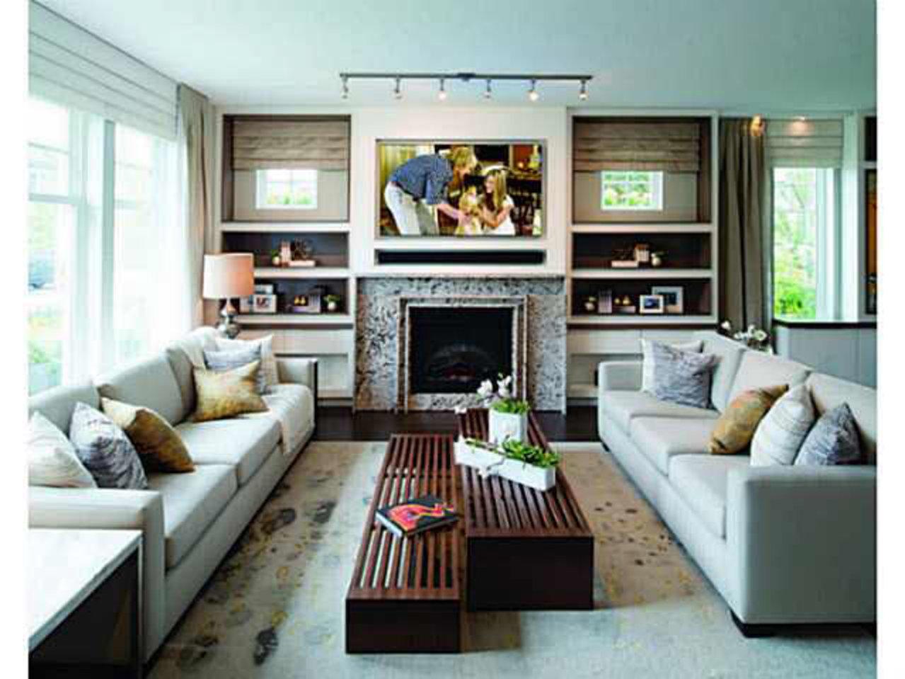 Living-Room at 3887 Cates Landing Way, Dollarton, North Vancouver