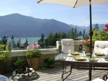 Balcony-with-views at 51 Salal Court, Furry Creek, West Vancouver