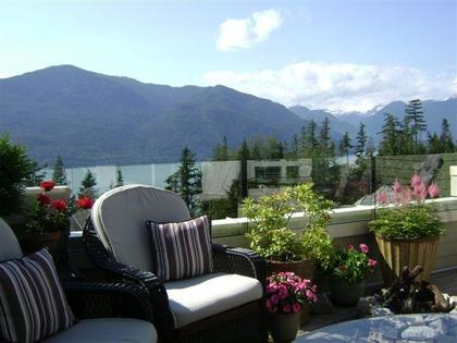 Balcony at 51 Salal Court, Furry Creek, West Vancouver