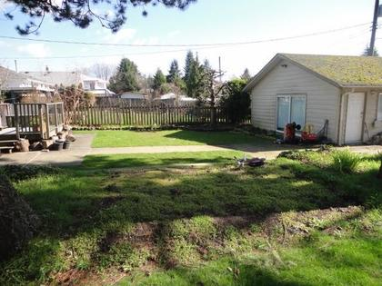 Back-Yard at 403 14th Street, Central Lonsdale, North Vancouver