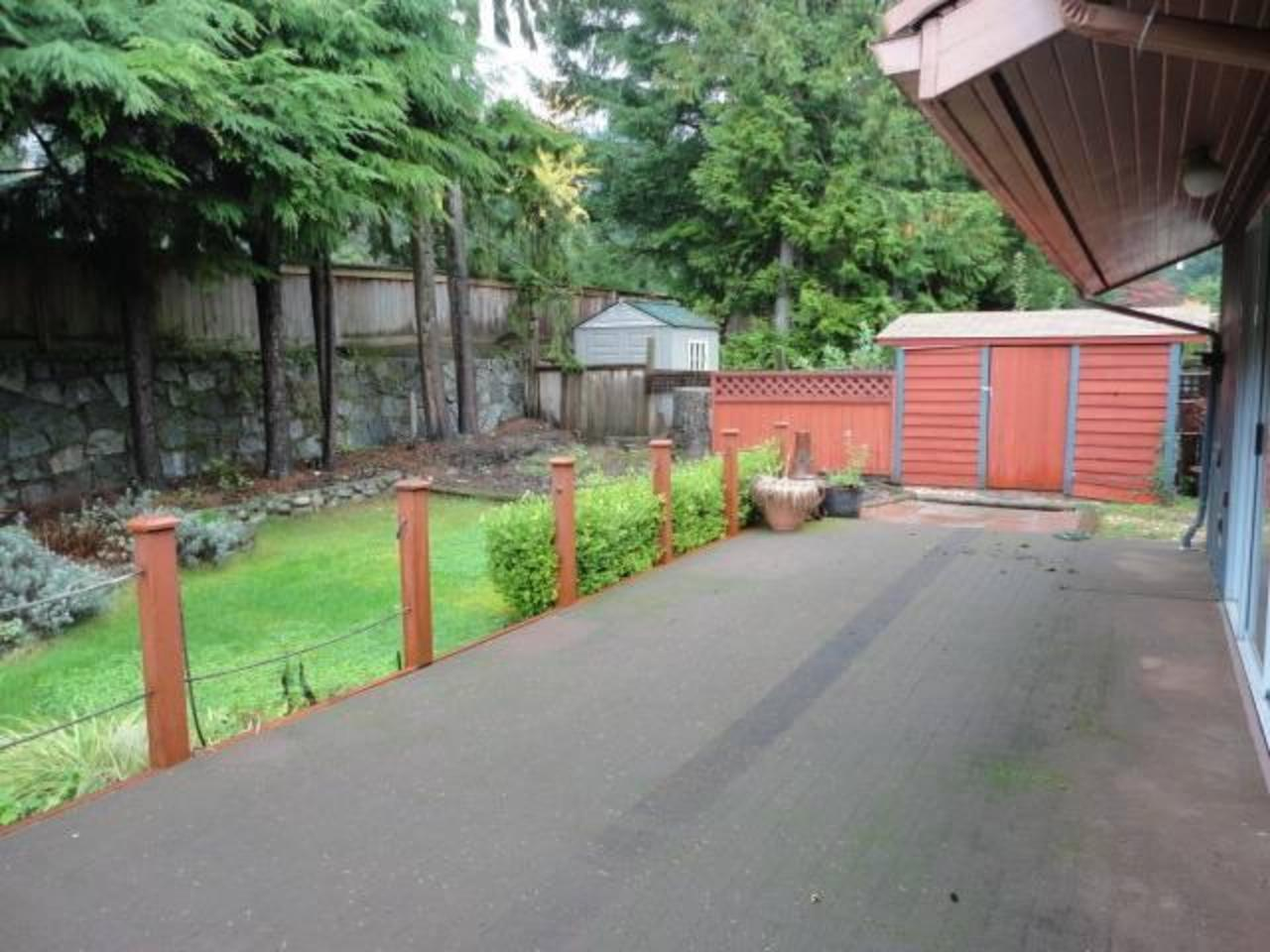 Yard at 24 Glenmore Drive, Glenmore, West Vancouver