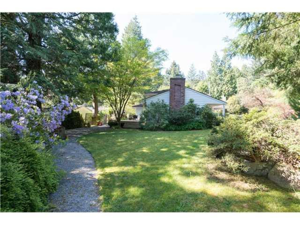 Backyard at 5654 Westport Road, Eagle Harbour, West Vancouver